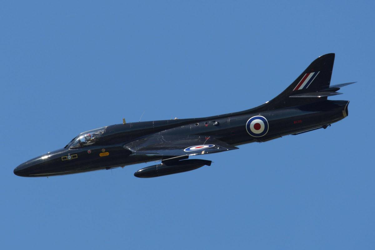 Black Hunter Hawker T-55 at ITPS flying