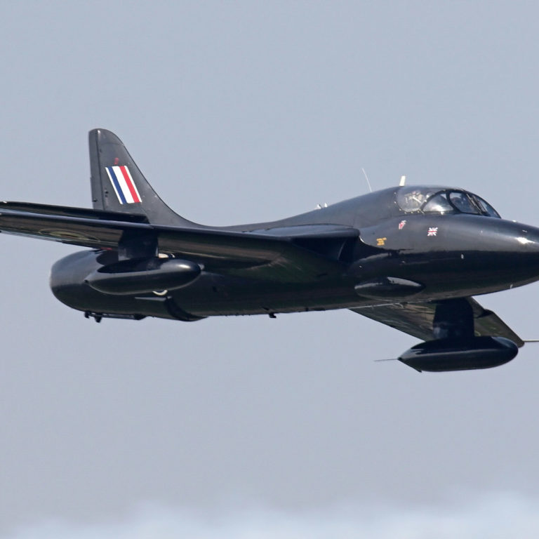 Black Hunter Hawker T-55 at ITPS flying.