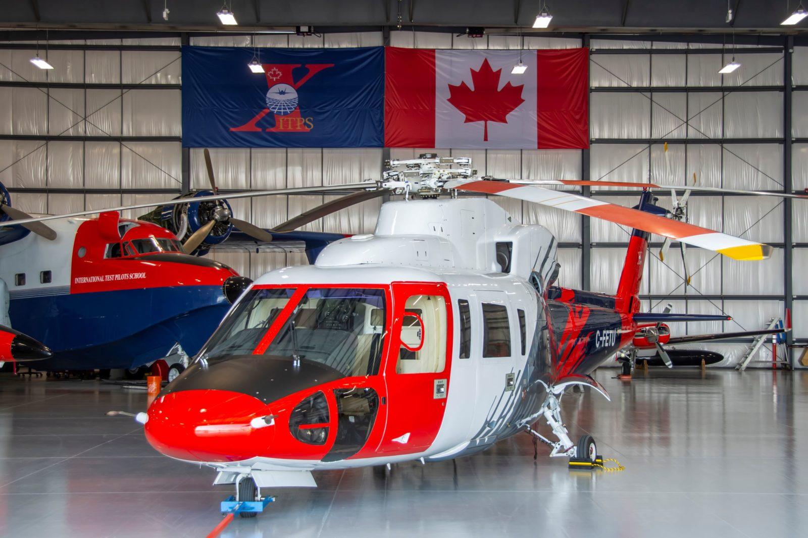 Sikorsky S-76 in the hangar