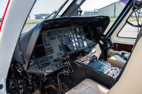 ITPS Sikorsky S-76 helicopter cockpit.