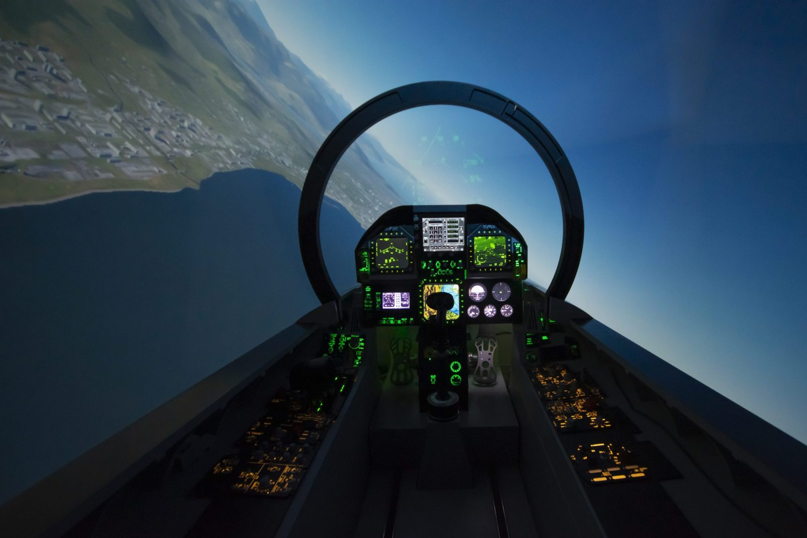 F-18 fighter jet aircraft simulator