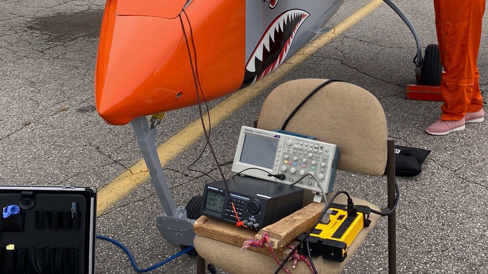 Equipment sitting on a chair for the MRPA at International Test Pilots School.