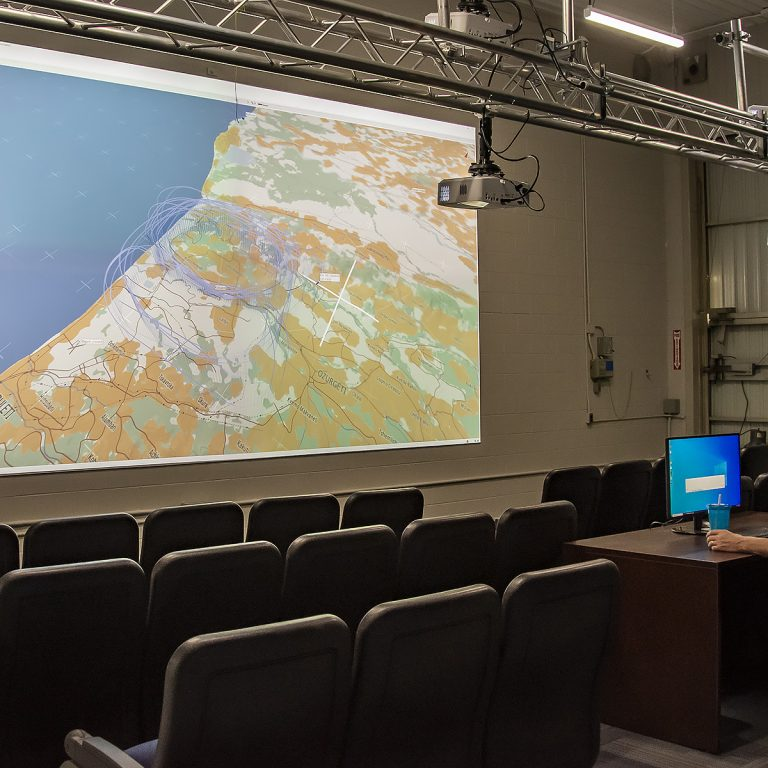 Photo of lecture theatre in Advanced Aircraft Simulation Centre at ITPS Canada